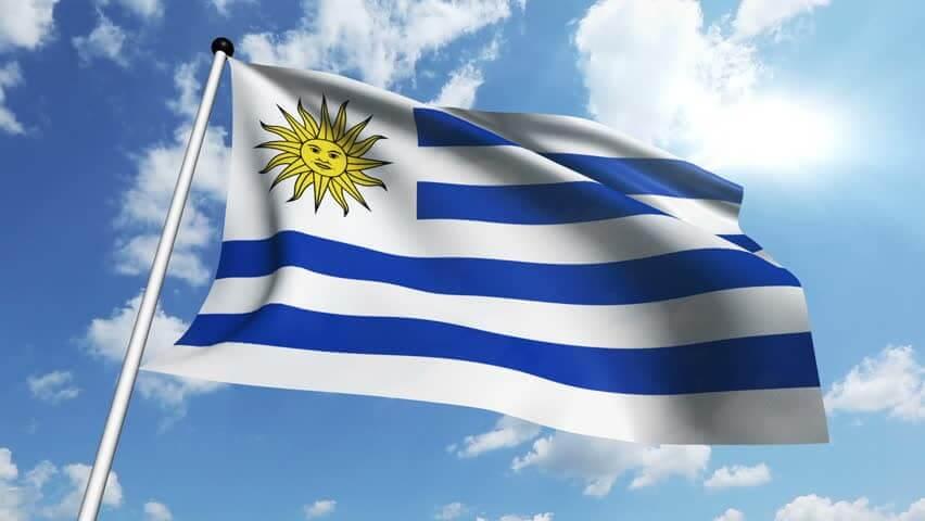 Que língua falam no Uruguai: bandeira do Uruguai