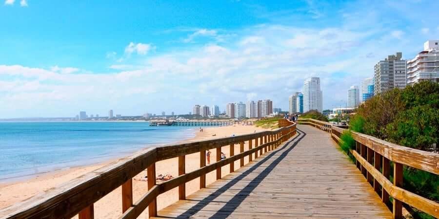 Passeios românticos em Punta del Este: rambla