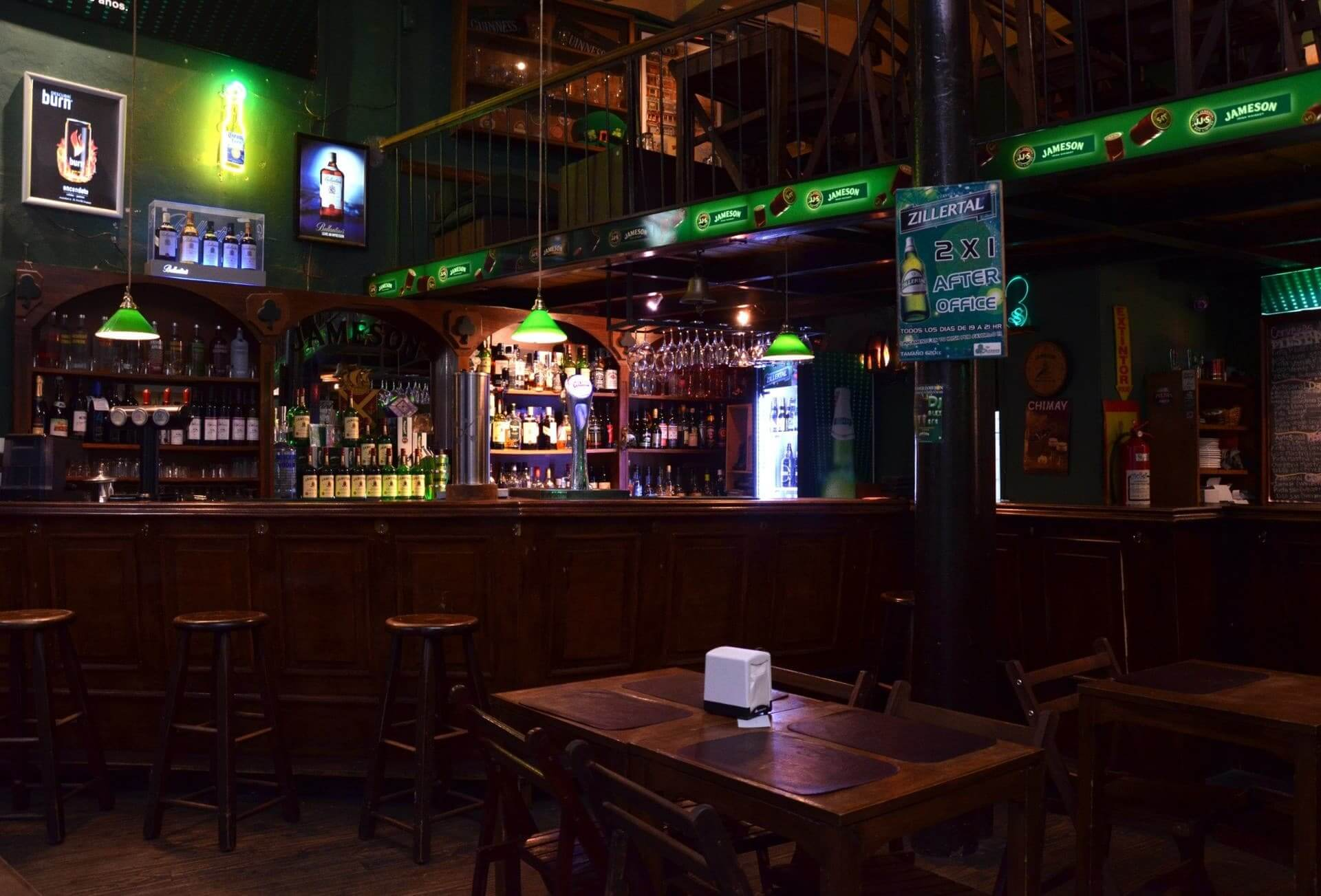 Bares em Montevidéu: bar The Shannon Irish Pub