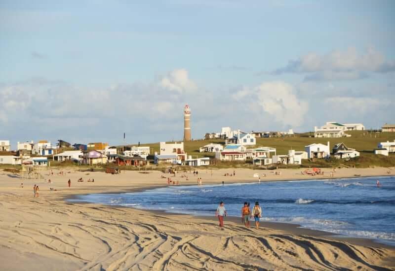 Praias no Uruguai: Playa Sur em Cabo Polonio