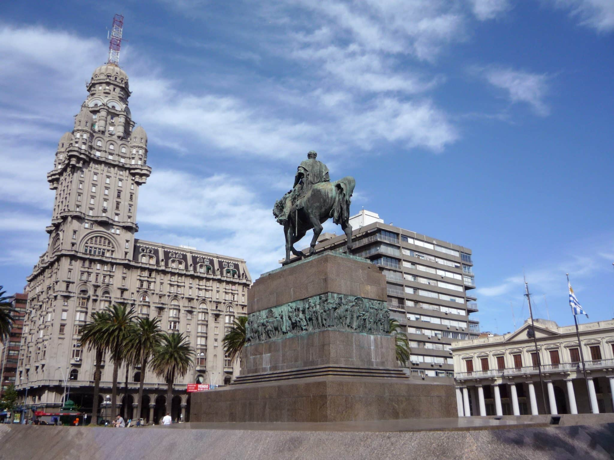Mapa turístico de Montevidéu: Plaza Independencia