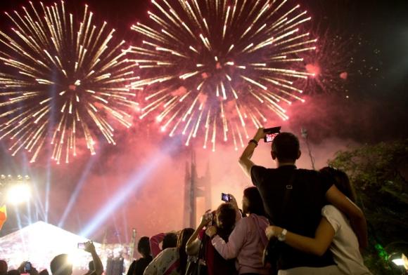 Natal em Punta del Este: show de fogos de artifício