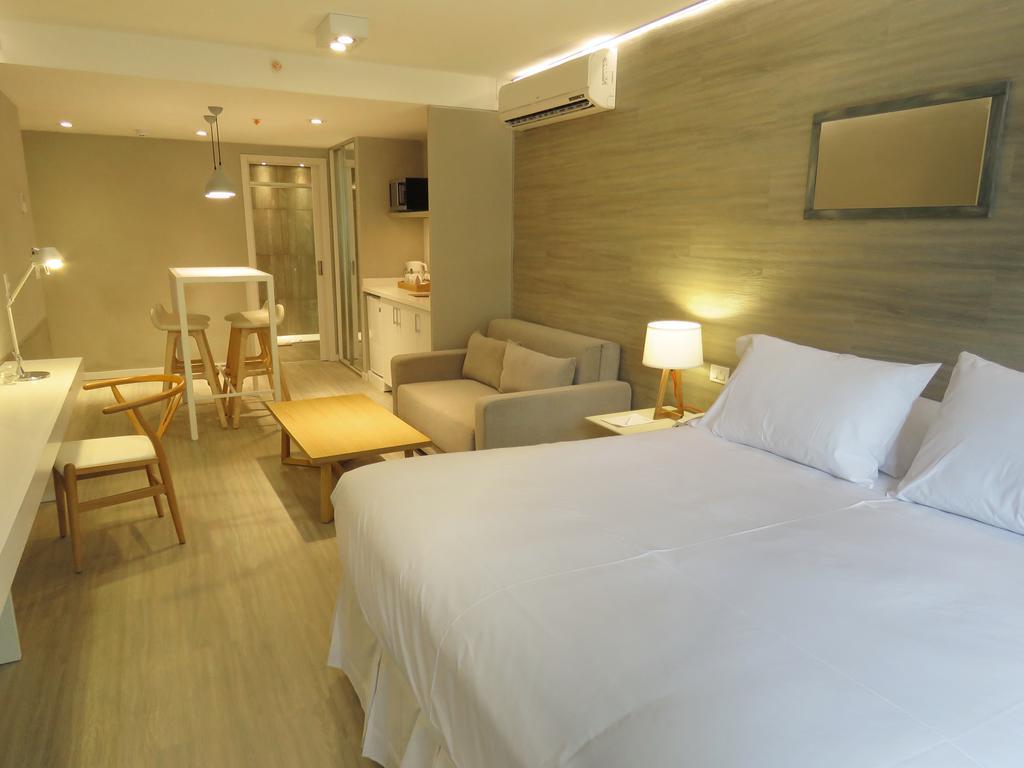 Hotéis no centro turístico de Montevidéu: Smart Hotel Montevideo - quarto
