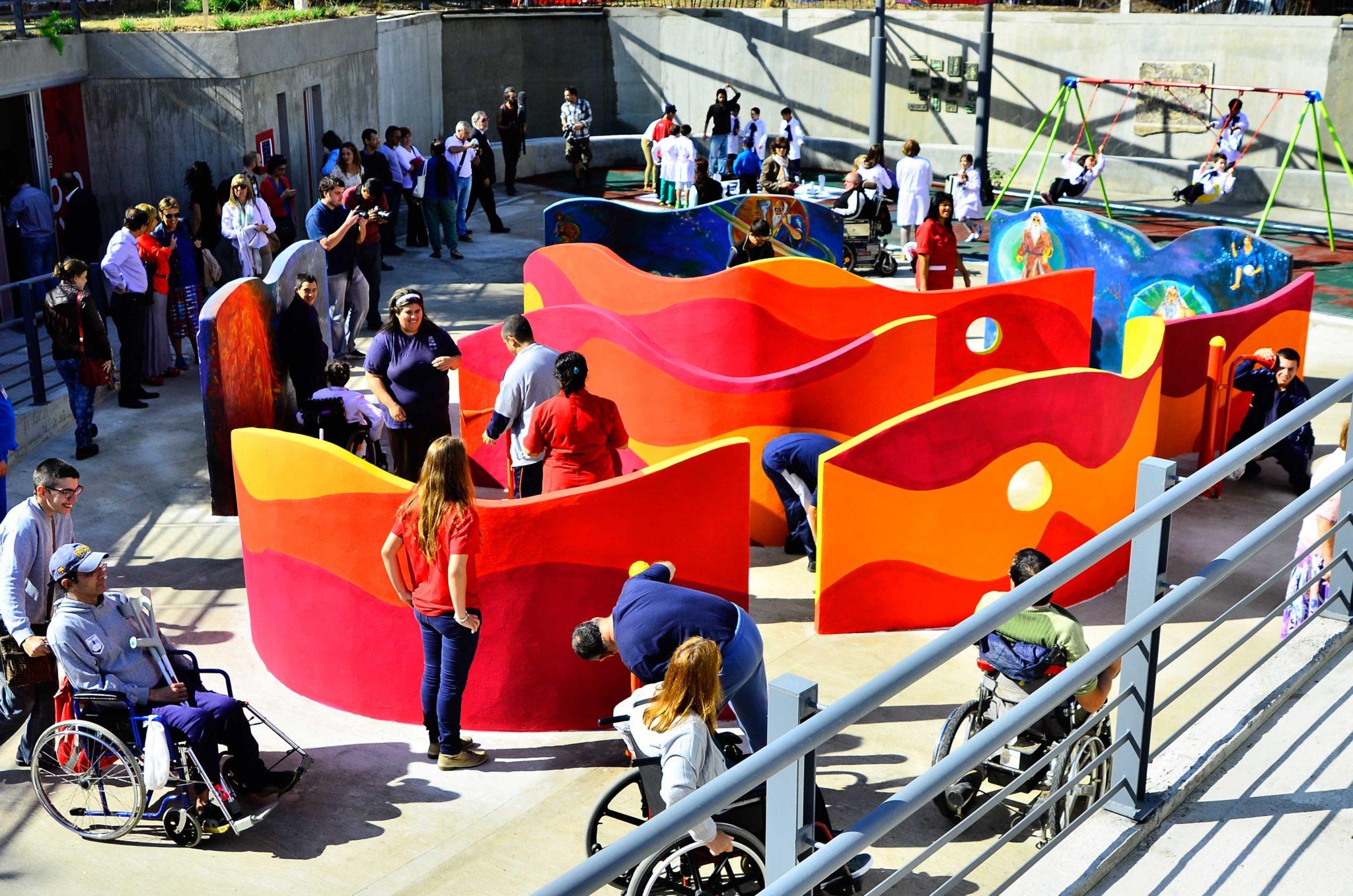 Deficientes físicos em Montevidéu: Parque de la Amistad